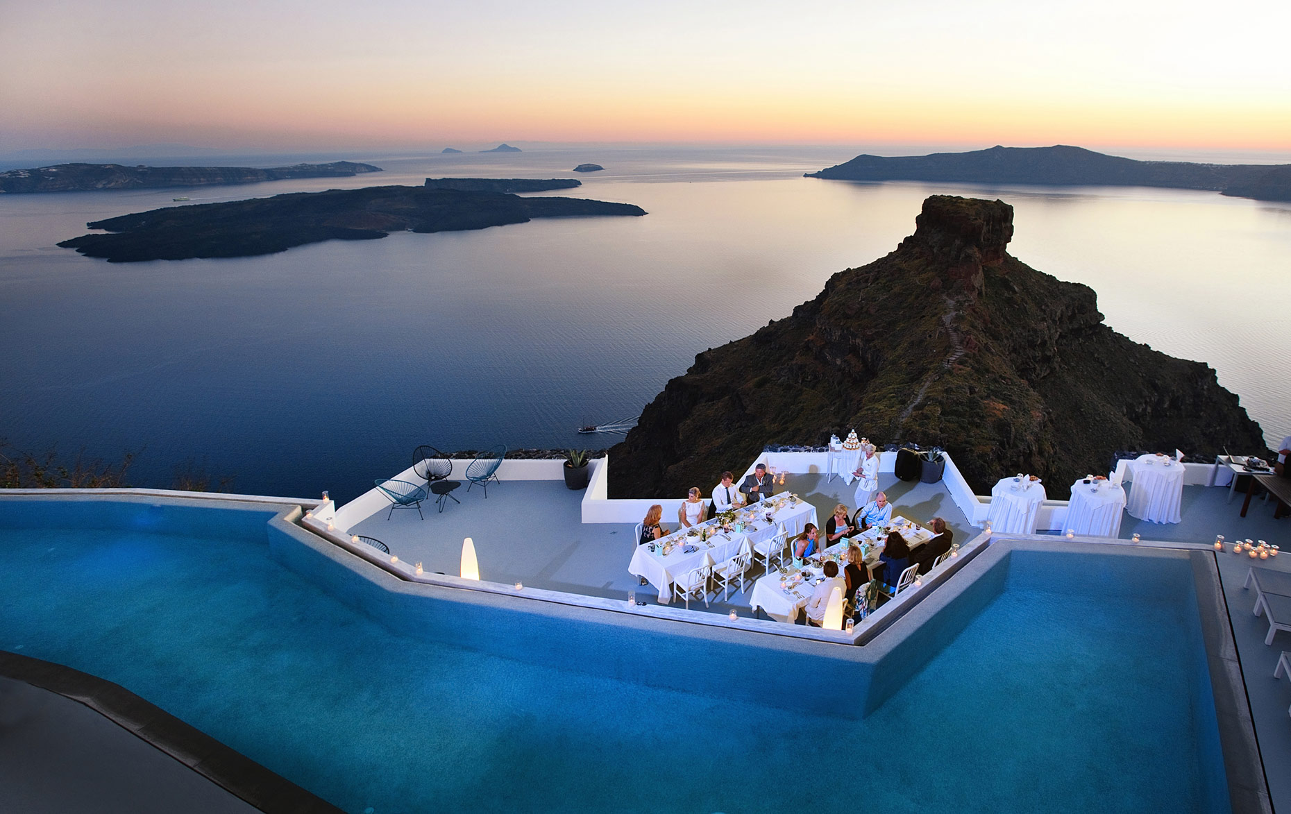 Grace hotel Santorini Wedding Amazing View