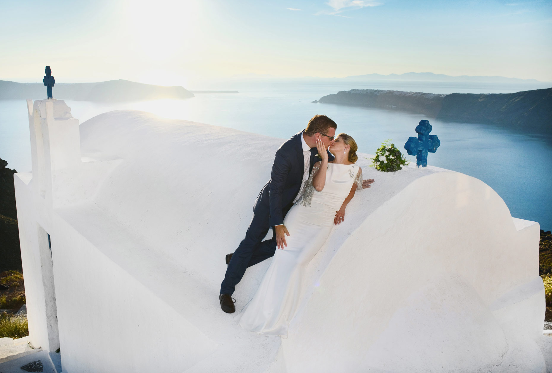 Imerovigli santorini wedding photographs