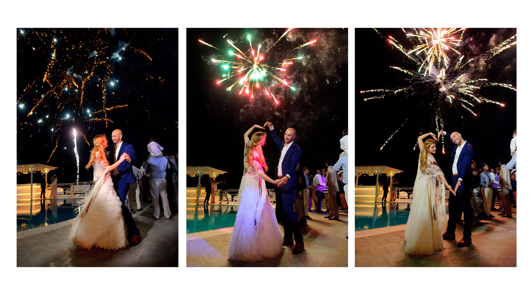 fireworks at wedding | wedding photography greece