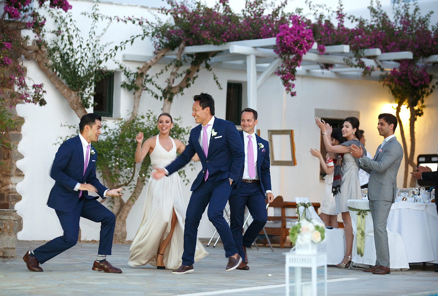 documentary wedding photographer in Paros