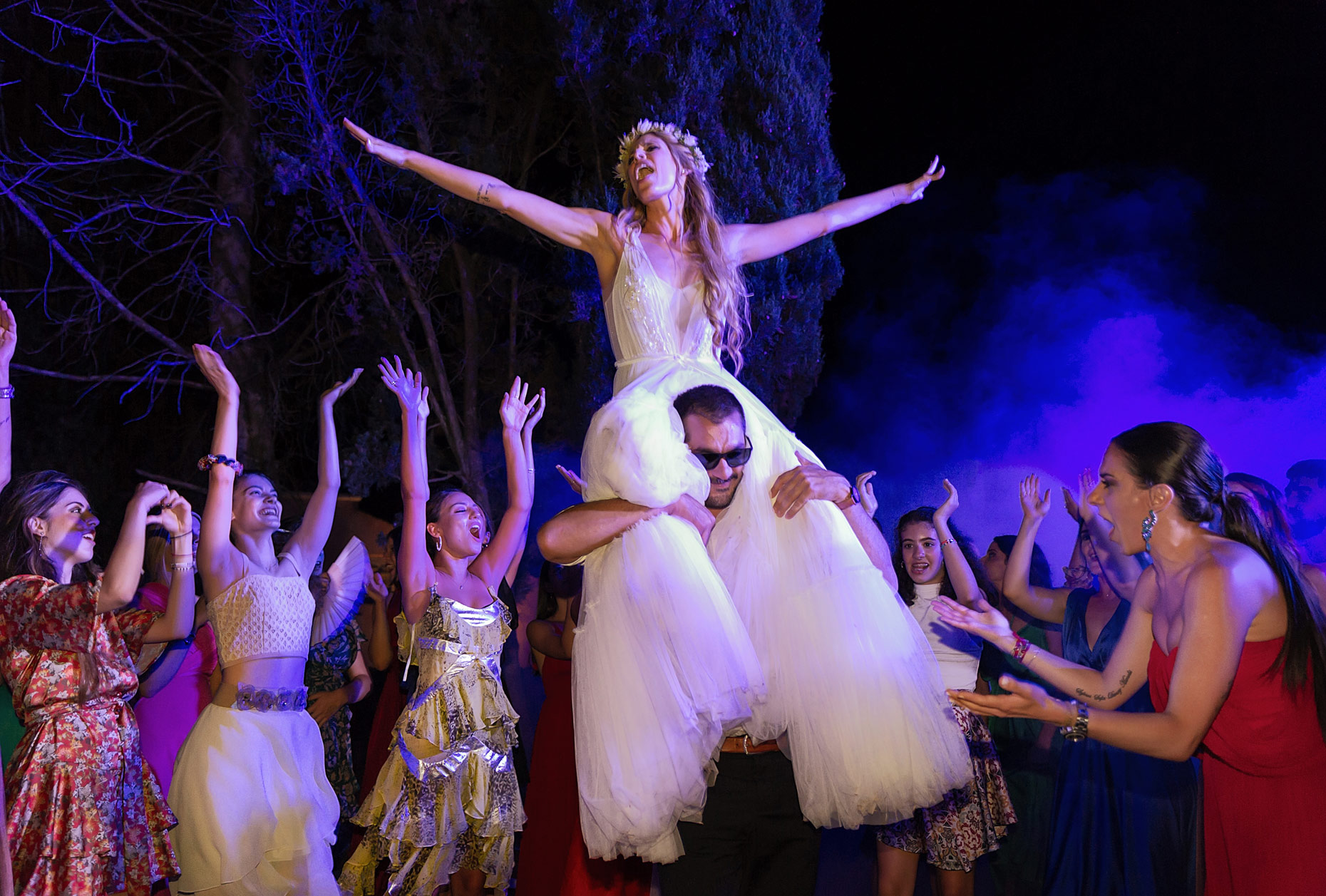 dancing in wedding party in Greece corfu
